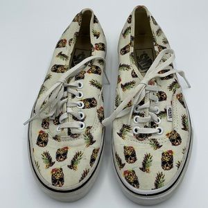 Vans Drained & Confused Pineapple Skull Shoes